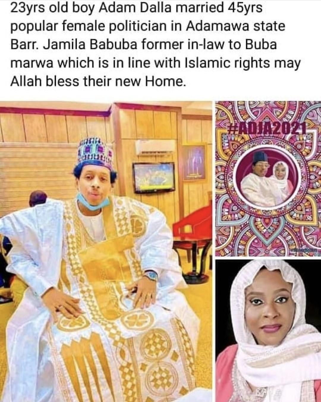 45-Year-Old Female Politician, Jamila Babuba Marries 23-Year-Old Man In Adamawa [Photos] 2
