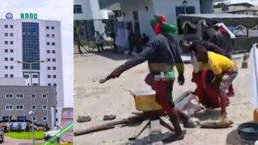Ijaw Youths Cook Goat Meat Peppersoup During Protest At NDDC HQ In Port Hacourt [Video] 3