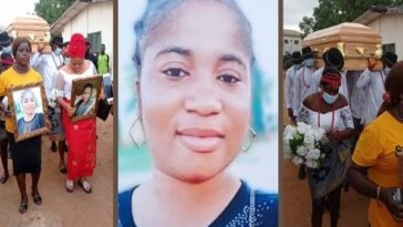 Tears As Late Comedian Ada Jesus Is Finally Laid To Rest In Imo State [Photos/Video] 5