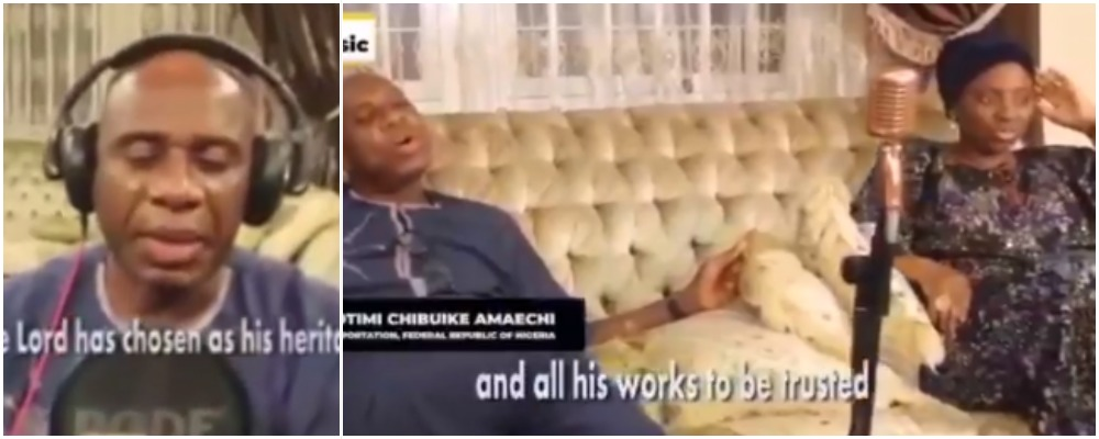 Minister Of Transport, Rotimi Amaechi Releases Gospel Song Featuring His Wife, Judith [Video] 1