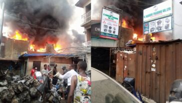 Fire Guts Ladipo Spare Parts Market In Lagos [Photos/Video] 2