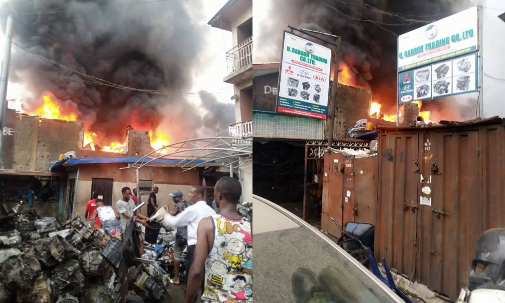 Fire Guts Ladipo Spare Parts Market In Lagos [Photos/Video] 1