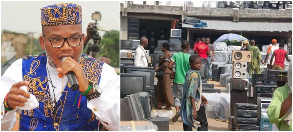 IPOB Leader, Nnamdi Kanu Claims There's A Plot To Burn Down Alaba Market In Lagos 1