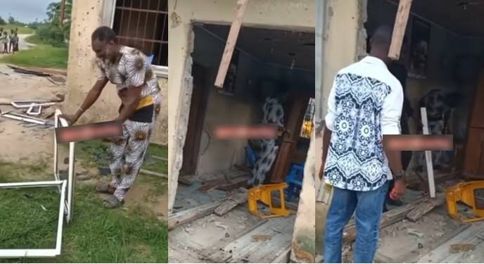Children Destroy Their Late Father's Wife's Shop For Refusing To Remarry From The Family [Video] 1