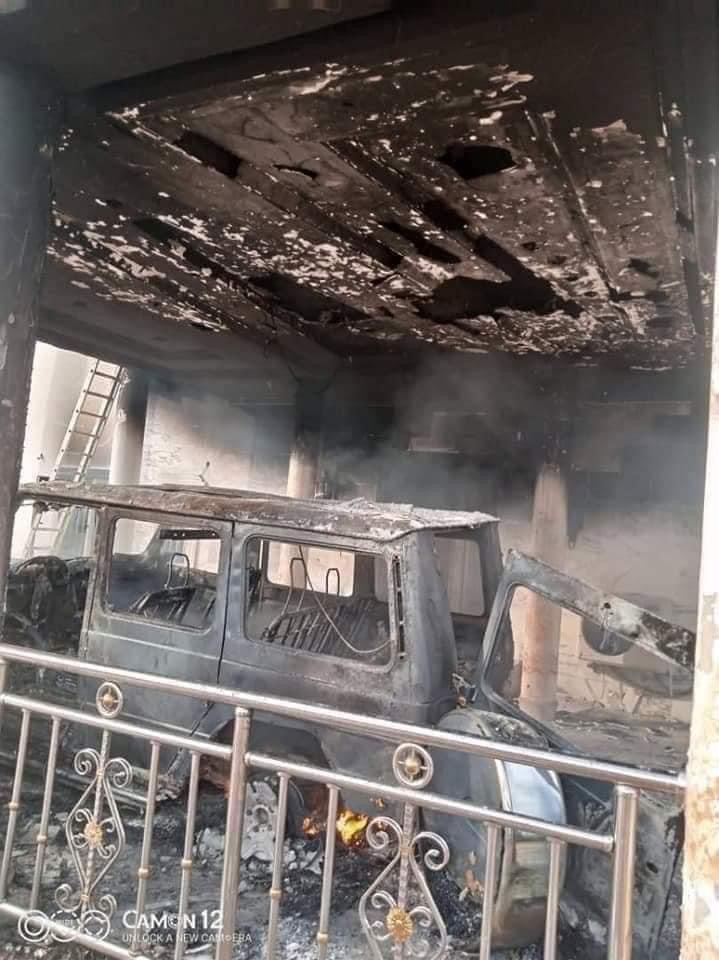 IPOB's ESN Members Accused Of Burning Man's Mansion And Fleet Of Cars In Abia [Photos] 5