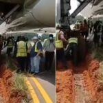 Ethiopian Airplane Gets Stuck In Mud After Skidding Off Runway At Lagos Airport [Video] 5