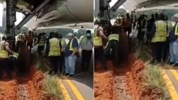 Ethiopian Airplane Gets Stuck In Mud After Skidding Off Runway At Lagos Airport [Video] 10