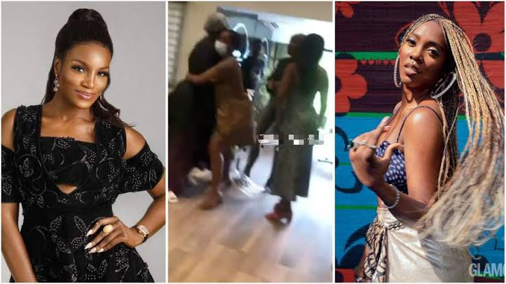 """""""Your Ny*sh Is The Dirtiest In This Industry"""" - Tiwa Savage And Seyi Shay Fights Dirty At Lagos Salon [Video] 1"""