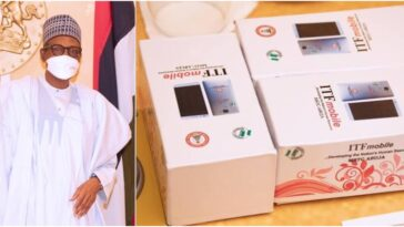 President Buhari Unveils First Ever Made-In-Nigeria Android Phone 'ITF Mobile' [Photos] 5