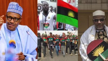 """""""IPOB Is Just Like A Dot In A Circle, Police And Army Will Defeat Them"""" - President Buhari 13"""