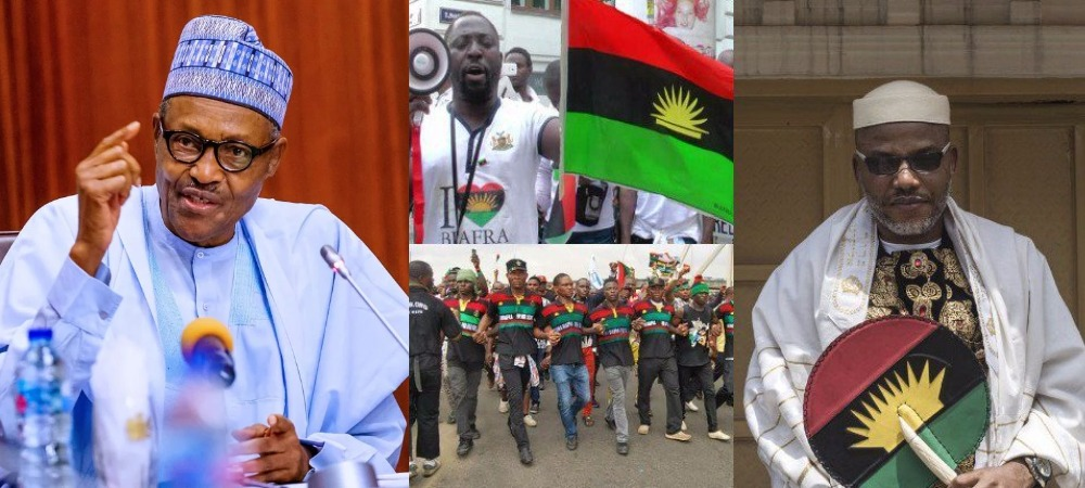 """""""IPOB Is Just Like A Dot In A Circle, Police And Army Will Defeat Them"""" - President Buhari 1"""
