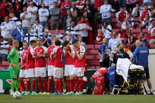 Christian Eriksen collapses in Denmark vs Finland match 2