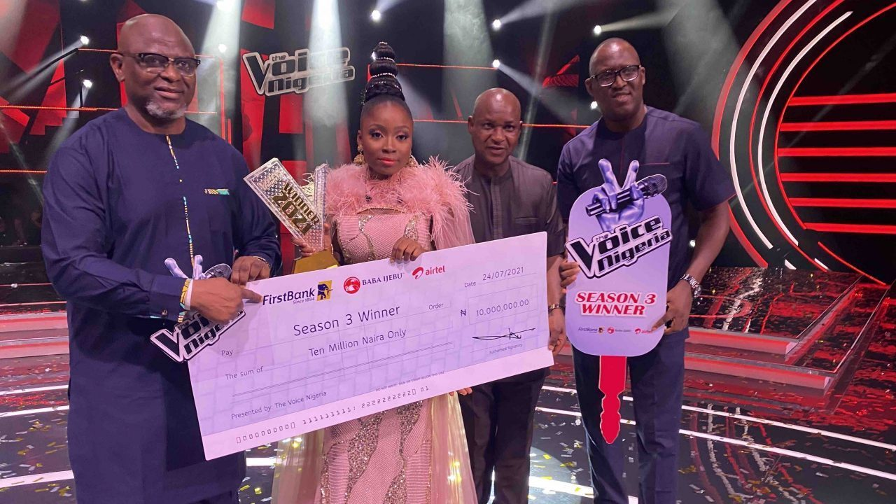 Esther Benyeogo Becomes Latest Music Star To Win 'The Voice Nigeria' Season 3