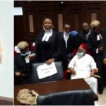 Anambra Ex-Governor Storms Abuja High Court For Nnamdi Kanu's Trial [Photos]