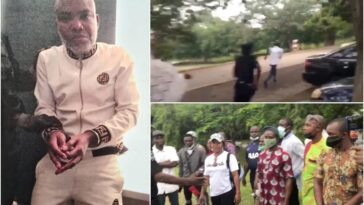 Police Arrests IPOB Members, Pulls Gun On Sympathizers Of Nnamdi Kanu In Court [Video]