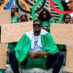 Nigerian Athletes Disqualified From Olympics Stages Protest In Tokyo [Photos]