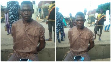 Phone Thief Caught After He Fell Asleep While Robbing A Kebbi Mosque [Photos]