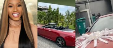 Mercy Eke Acquires New Mercedes Benz Convertible Worth N30 Million [Video]
