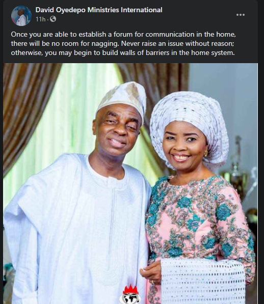 """""""Marriage Without Sex Is Heading For Destruction"""" – Bishop Oyedepo Tells Couples 1"""