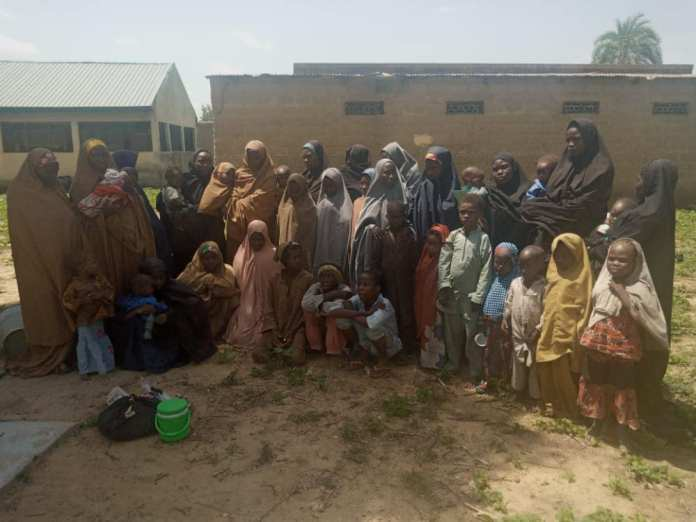 56 More Boko Haram Terrorists And Thier Families Surrender To Nigerian Army 1