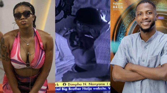 BBNaija: New Housemate, Kayvee Kisses Angel Passionately On His First Night [Video]