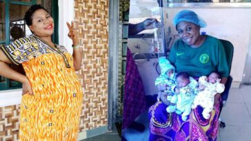 Woman Gives Birth To Triplets 'After 9 Years Of Name-Calling And Insults' [Photos]