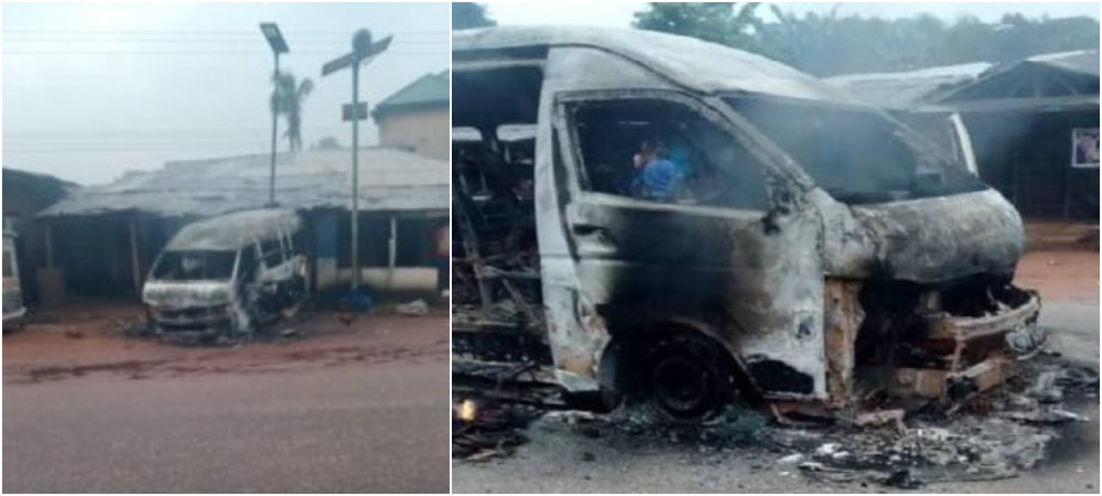 IPOB Members Burns Bus Passenger Alive For Flouting Sit-At-Home Order In Imo