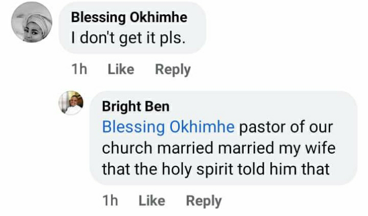 Nigerian Man Cries Out After Pastor Married His Wife On Instruction Of 'Holy Spirit' 3