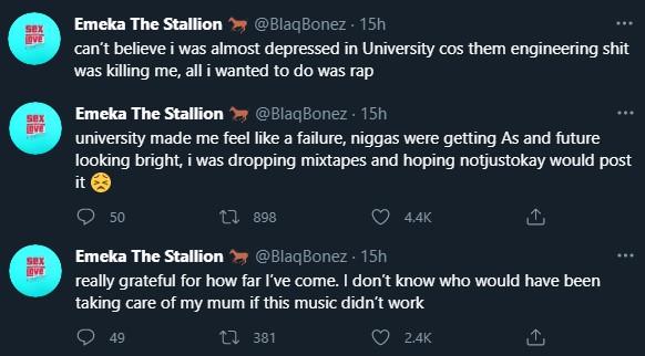 """University Made Me Feel Like Failure, I Was Almost Depressed"" – Rapper Blaqbonez"