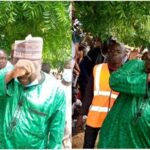 Nigerian Lawmaker Cries After Seeing His Displaced Constituents Living As Refugees In Niger Republic [Photos]