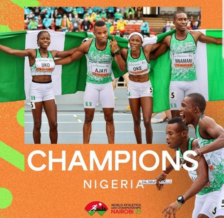Nigeria Win 4x400m Mixed Relay Gold At World U-20 Athletics Championships [Video]