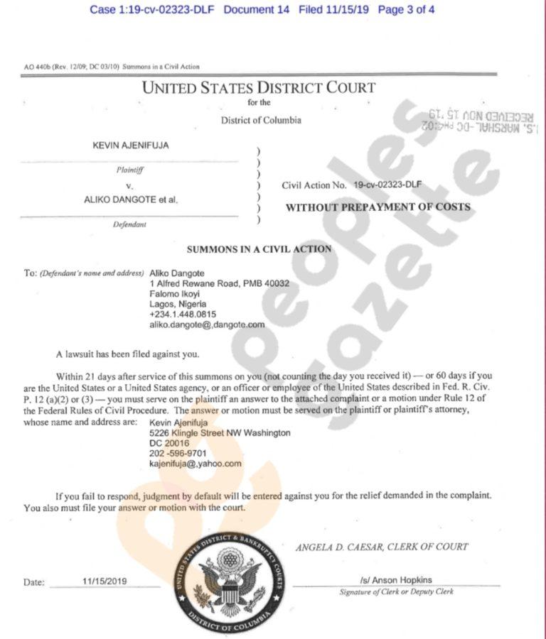 Dangote Allegedly Drugged My Wife, Got Her Raped – Businessman Tells US Court