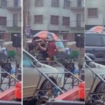 Nigerian Police Officer Preaches And Prays On The Road Despite Heavy Rainfall [Video]
