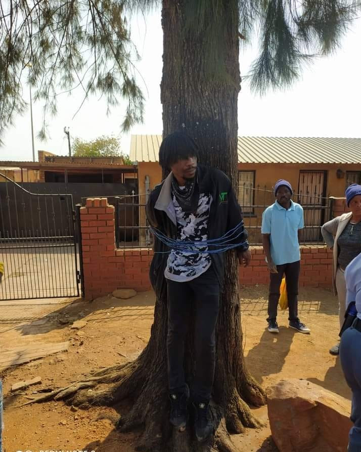 Man Tied To Tree And Beaten For Allegedly Stealing Money From His Grandmother