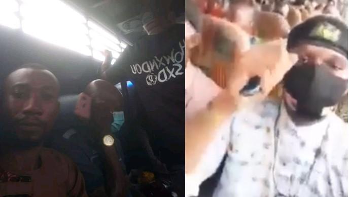 IPOB Members Sings Pro-Biafran Song After Being Arrested By Police In Ghana [Video]