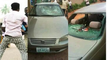 Drama As Two Married Men Destroys Car While Fighting Over 'Side Chic' In Benue