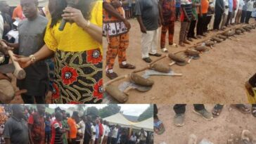Cross River LG Chairman Empowers Constituents With One Tuber Of Yam, Hoe And Cutlass