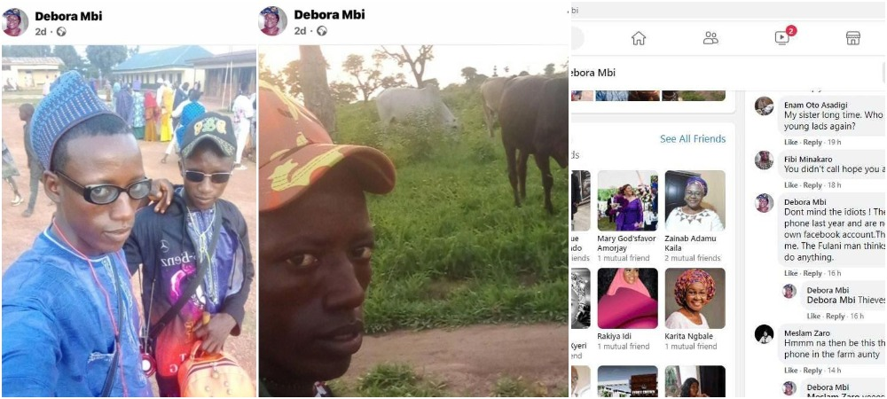 Herdsmen Steal Woman's Phone In Adamawa, Post Their Photos On Her Facebook Wall