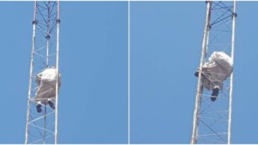 Gombe Man Threatens To Jump Off Telecoms Mast If Woman Is Not Married To Him