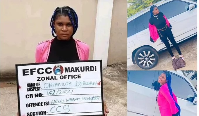 Lady Arrested By EFCC Shortly After Flaunting Her Flashy Car, Jailed For Internet Fraud