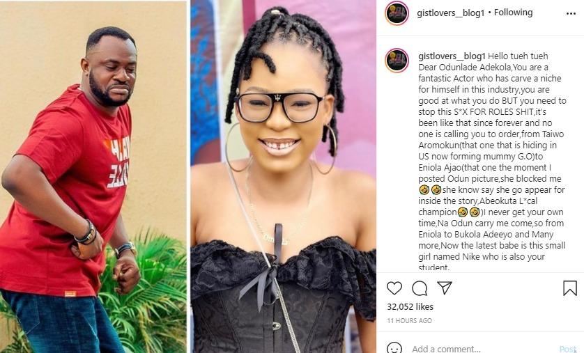 Nollywood Actor, Odunlade Adekola Accused Of Sleeping With Ladies For Movie Roles