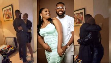Tega Kisses Husband As They Reunite After Apologizing For Her Action In BBNaija [Video]