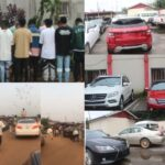 EFCC Arrests 31 Yahoo Boys Spraying Money In Benin, Recovers 13 Exotic Cars [Video]