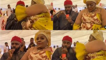 Actress Rita Edochie Angrily Slaps Her Colleague, Chief Imo At Public Event [Video]