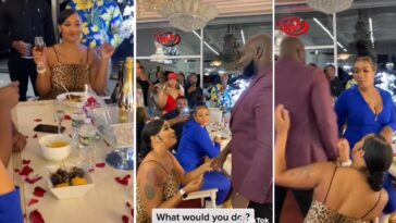 Drama As Man Walks Away With Another Lady After His Girlfriend Proposed To Him [Video]