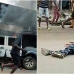 Gunmen Kill Three Policemen, Set Patrol Van Ablaze In Fresh Anambra Attack [Photos]