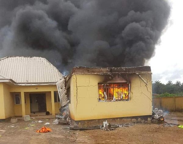 Election Materials Destroyed As Hoodlums Set INEC Office Ablaze In Enugu
