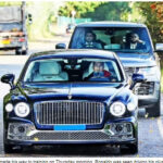 Photos: Cristiano Ronaldo closely followed by bodyguards as he drives his Bentley to training 2