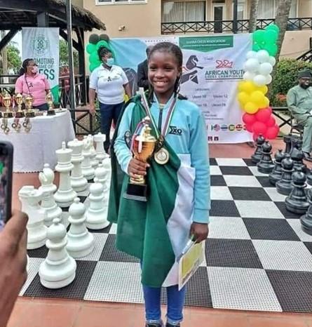 Nigerian Girl, Deborah Quickpen Emerges Winner Of Africa Youth Chess Championship 1