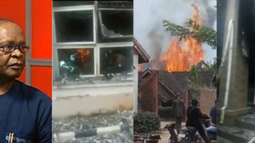Joe Igbokwe Cries Out As IPOB Allegedly Invades His House In Nnewi, Set It Ablaze [Video]